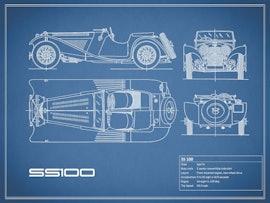 Jaguar SS 100 - Blue