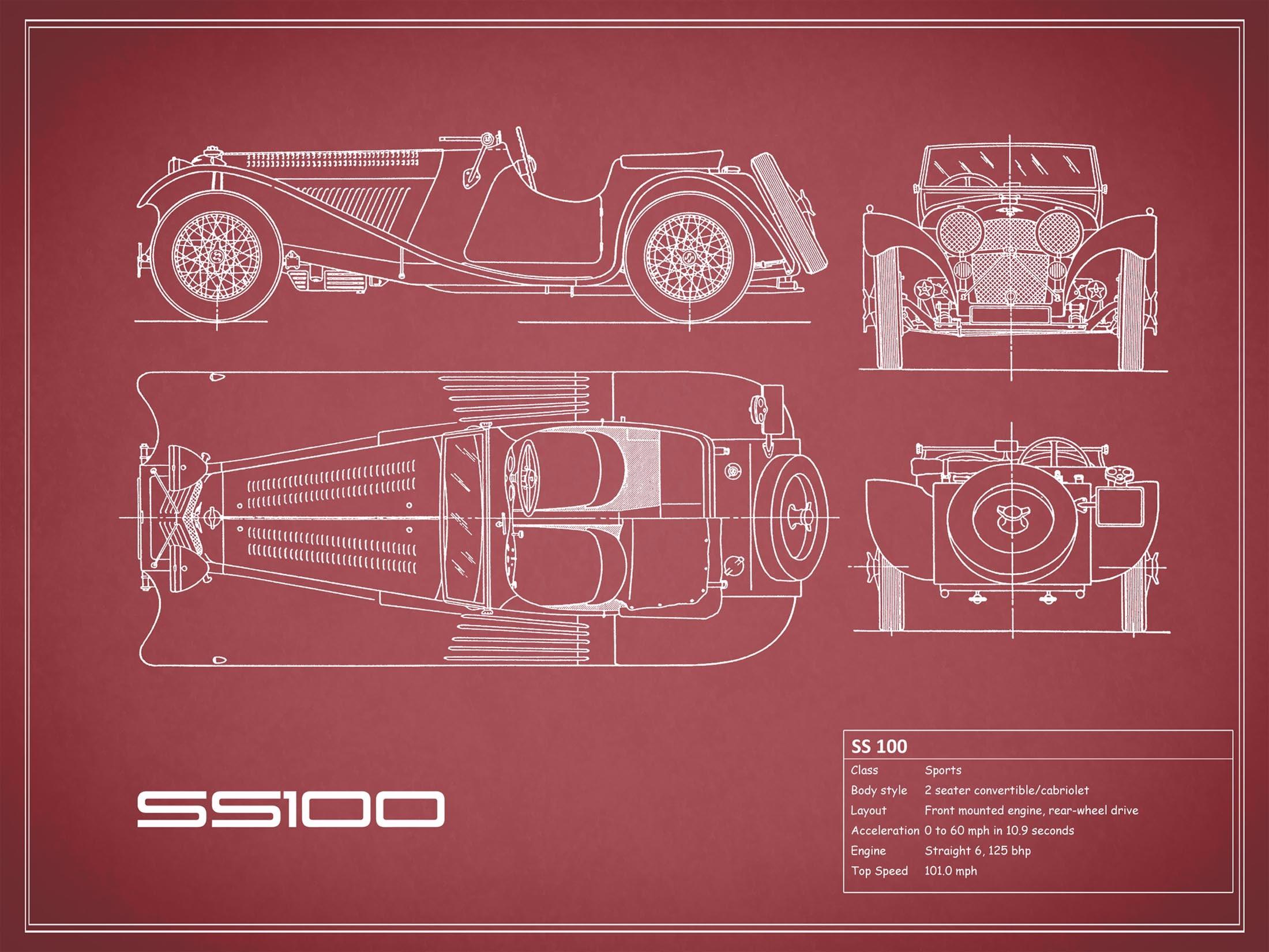 Jaguar SS 100 - Red
