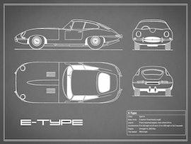 Jaguar E Type - Gray