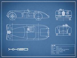 Jaguar XK 120 - Blue