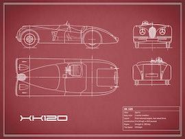 Jaguar XK 120 - Red
