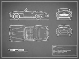 Mercedes-Benz 190 SL - Gray