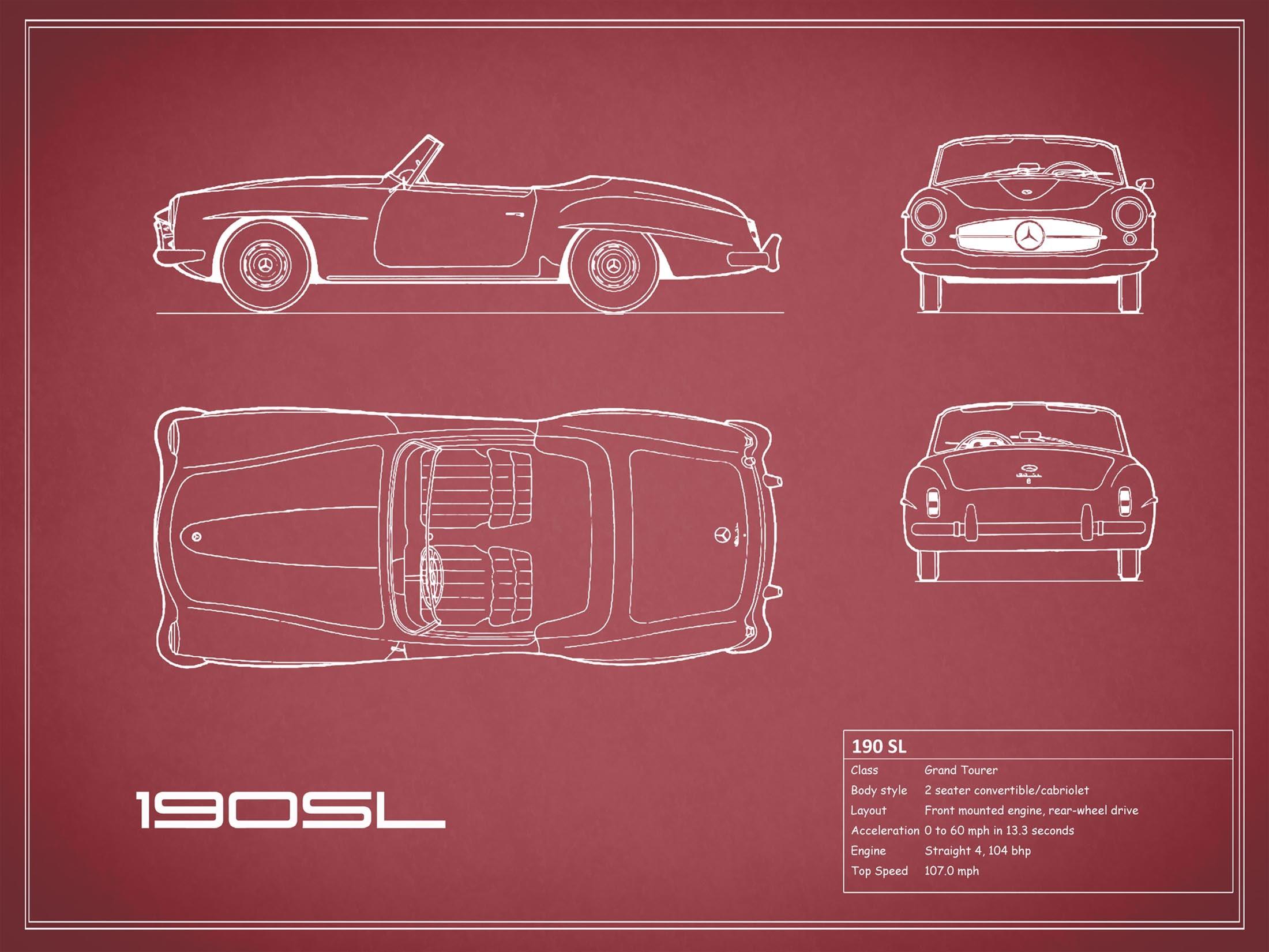 Mercedes-Benz 190 SL - Red