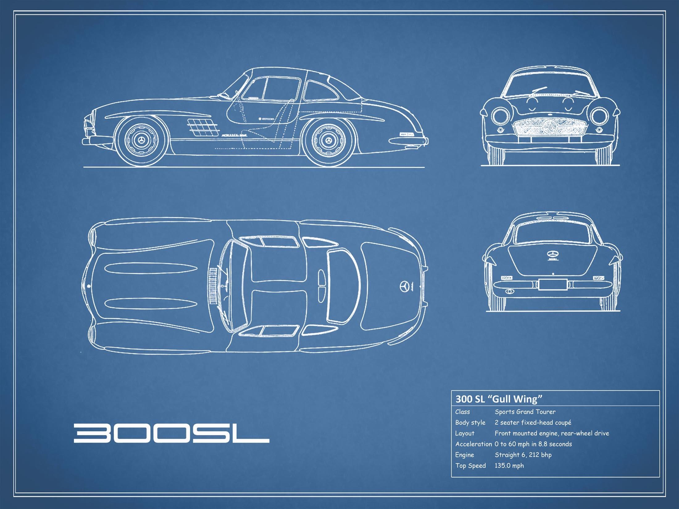 Mercedes-Benz 300 SL - Blue
