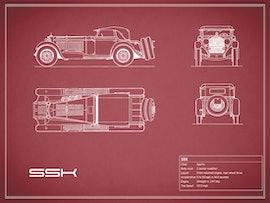 Mercedes-Benz SSK - Red