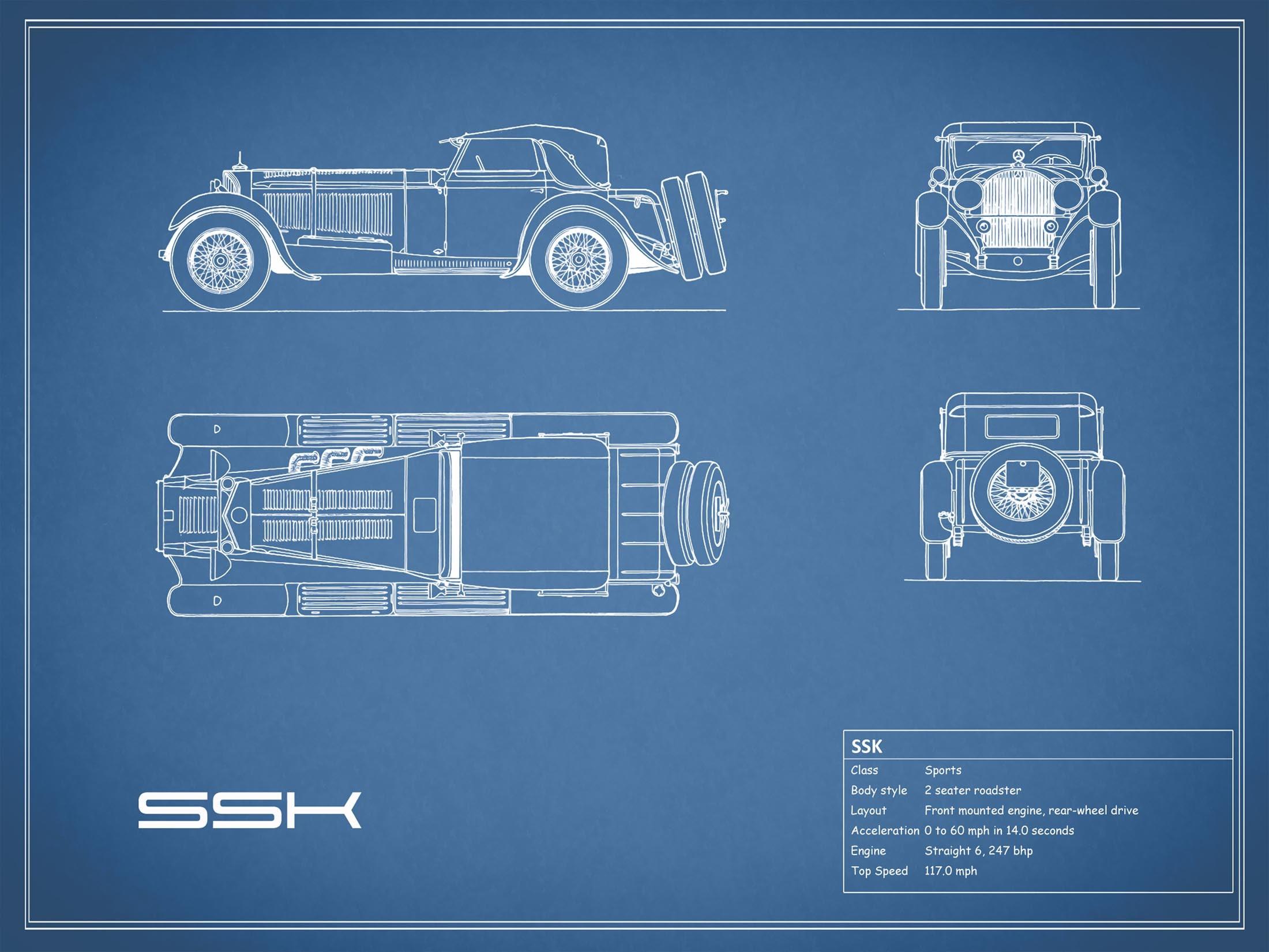 Mercedes-Benz SSK - Blue