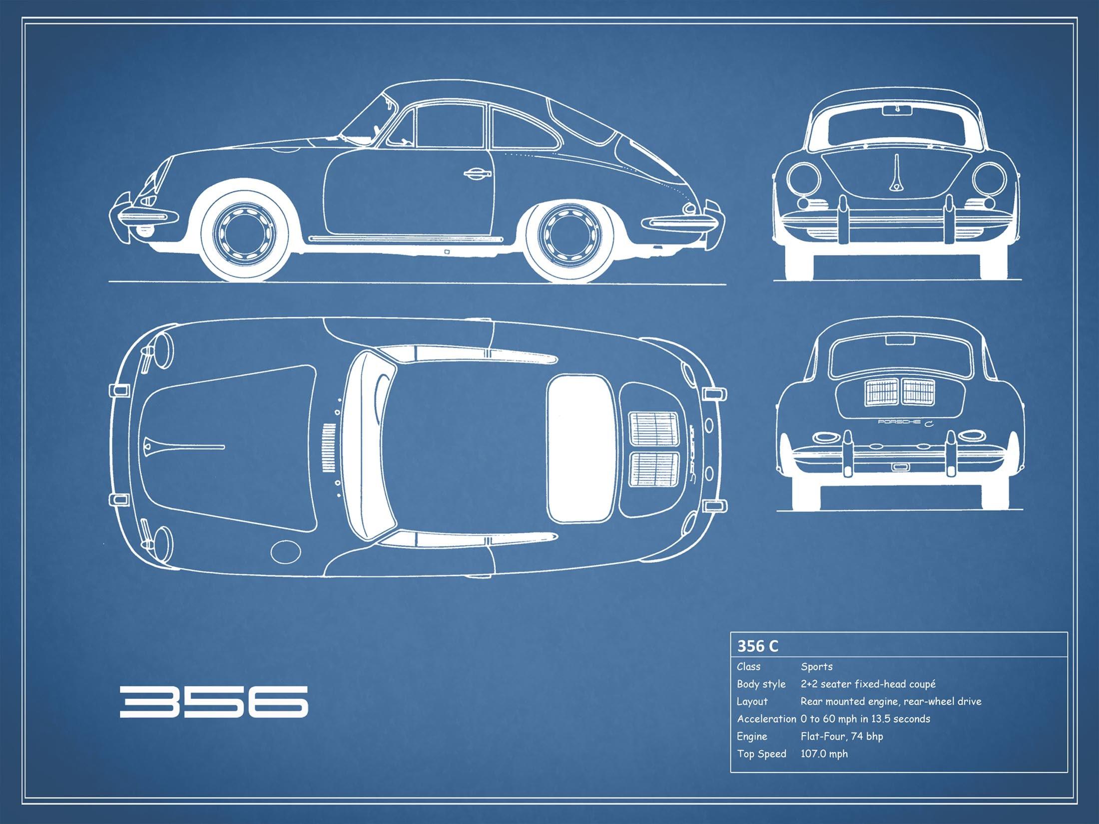 Porsche 356 C - Blue