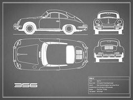 Porsche 356 C - Gray
