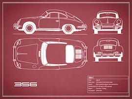 Porsche 356 C - Red