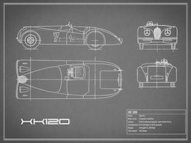 Jaguar XK 120 - Gray