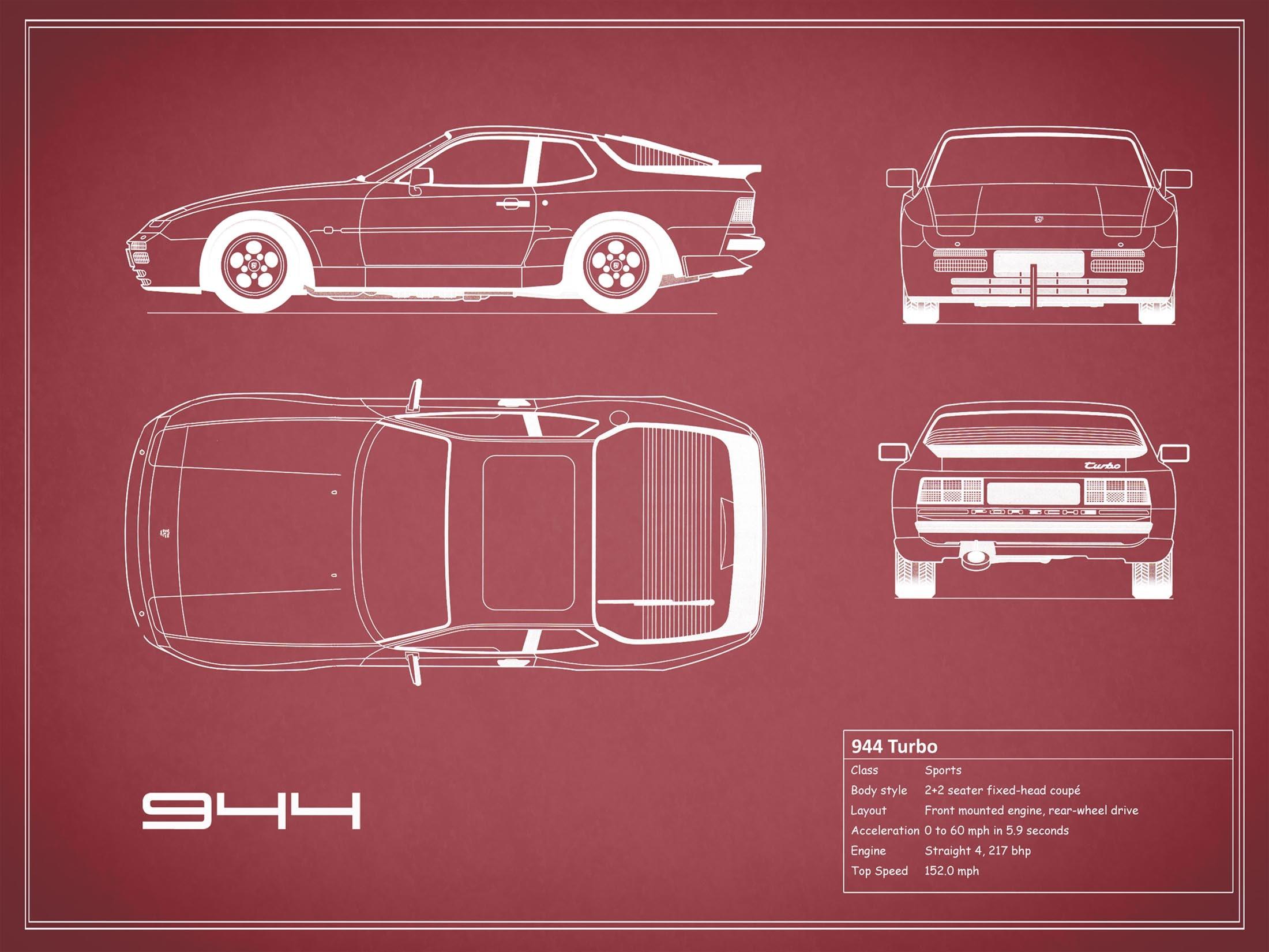 Porsche 944 - Red