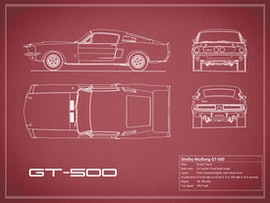 Shelby Mustang GT500 - Red