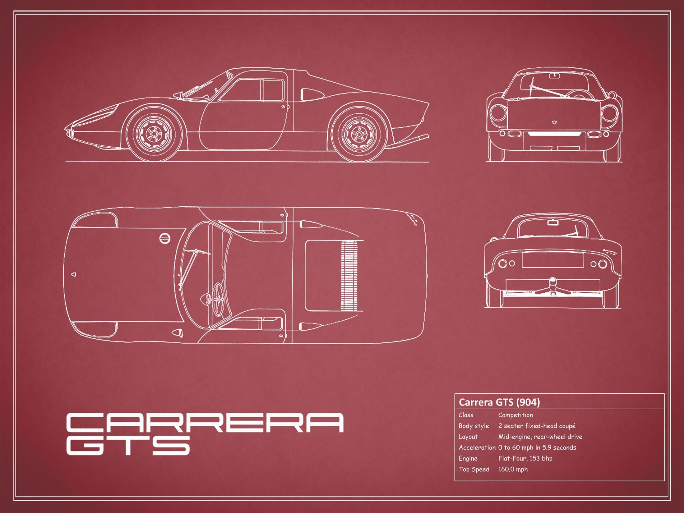 Porsche Carrera GTS - Red