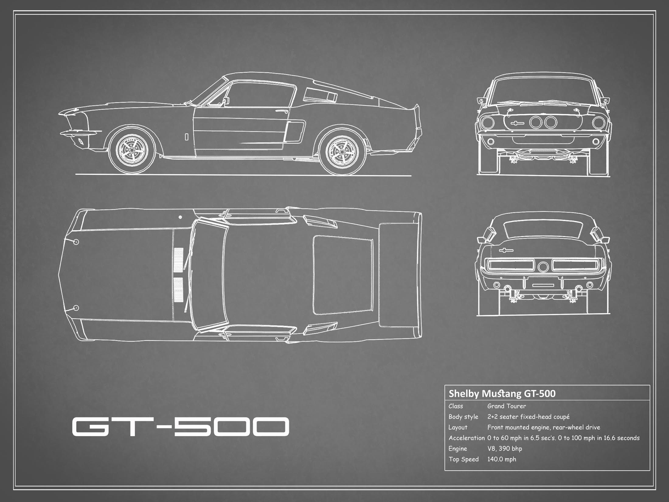 Shelby Mustang GT500 - Gray