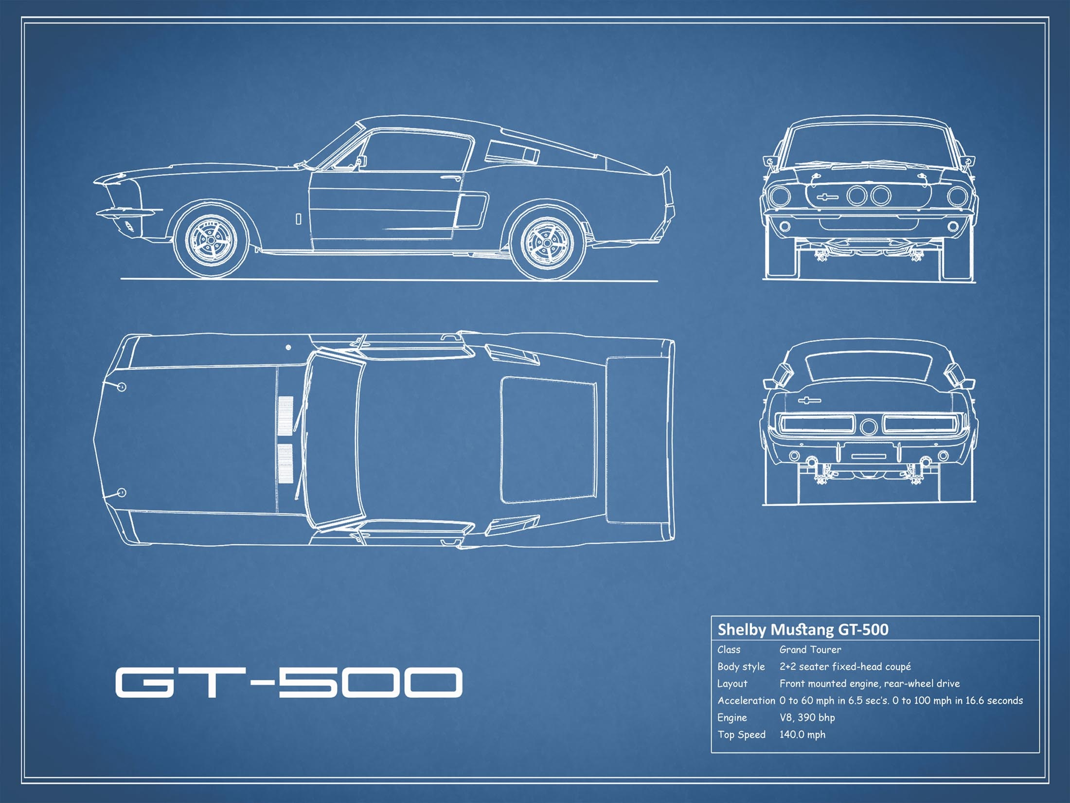 Shelby Mustang GT500 - Blue