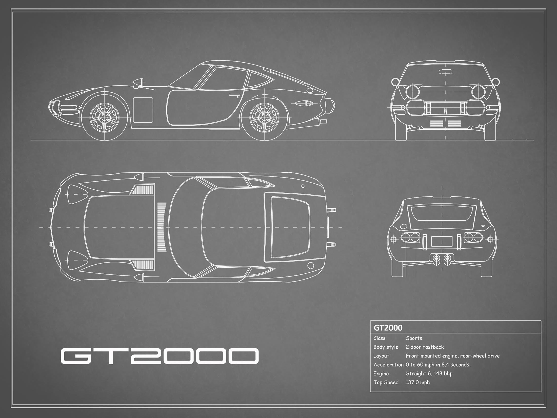 Toyota GT2000 - Gray