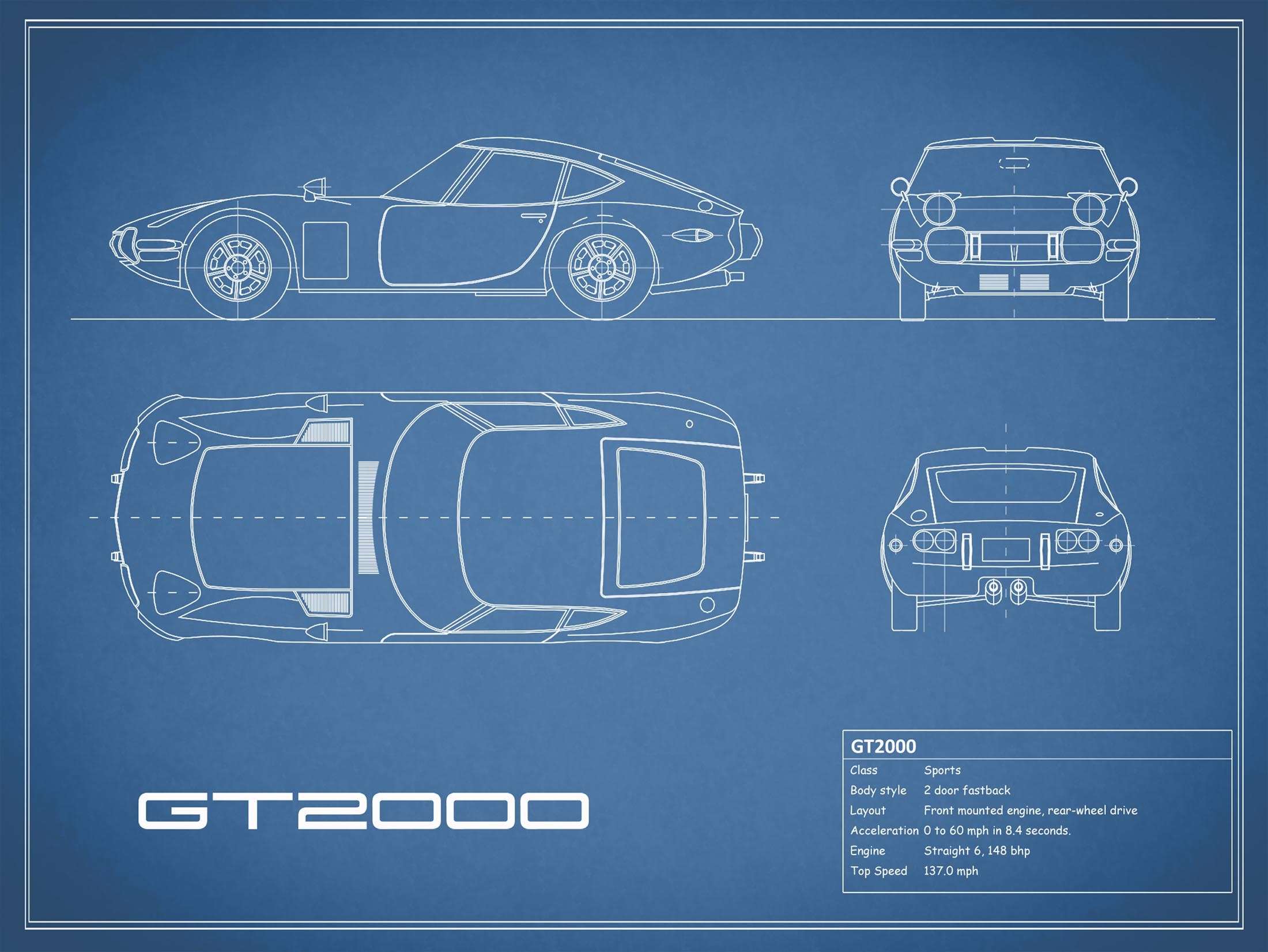 Toyota GT2000 - Blue