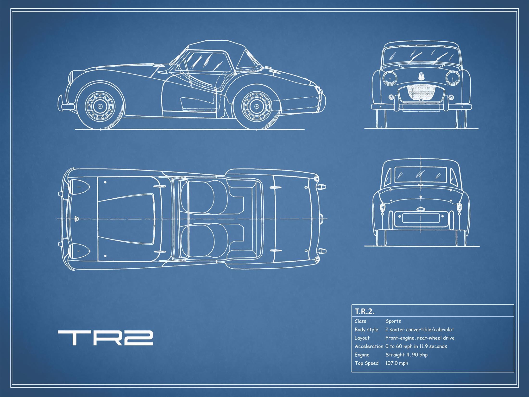 Triumph TR2 - Blue