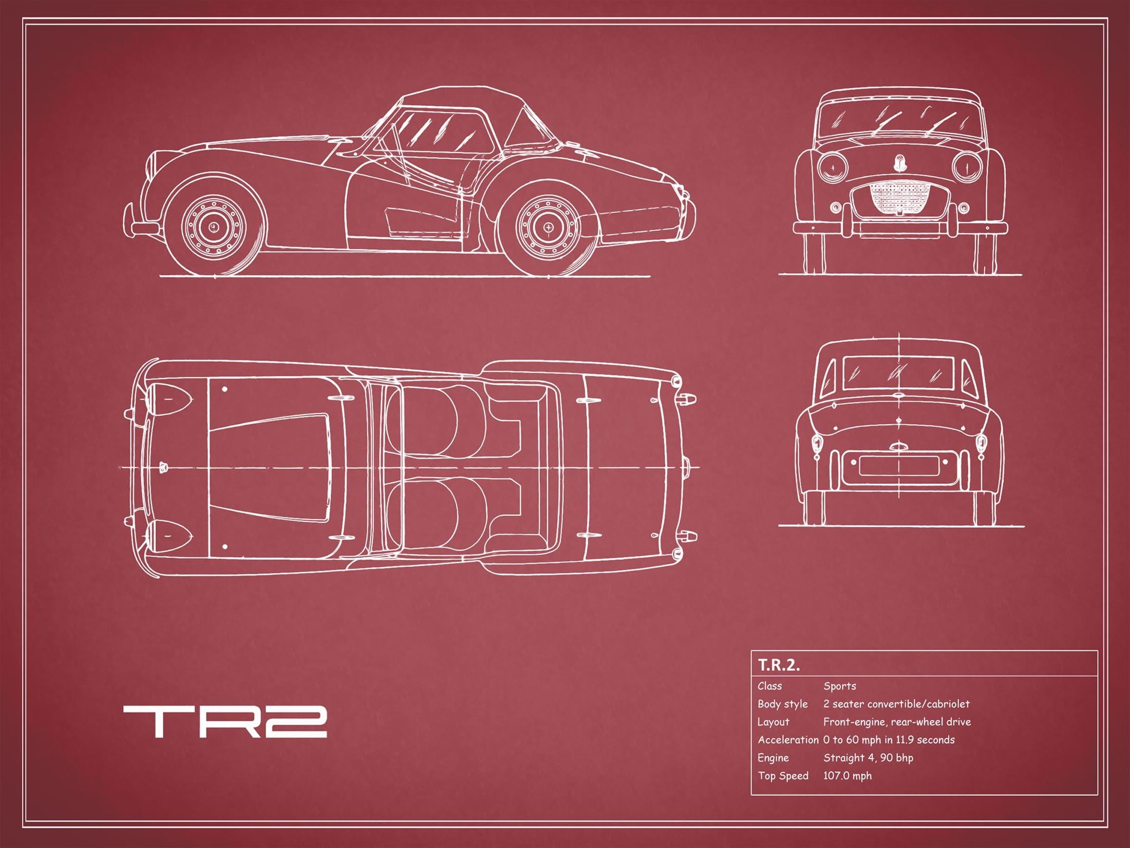Triumph TR2 - Red