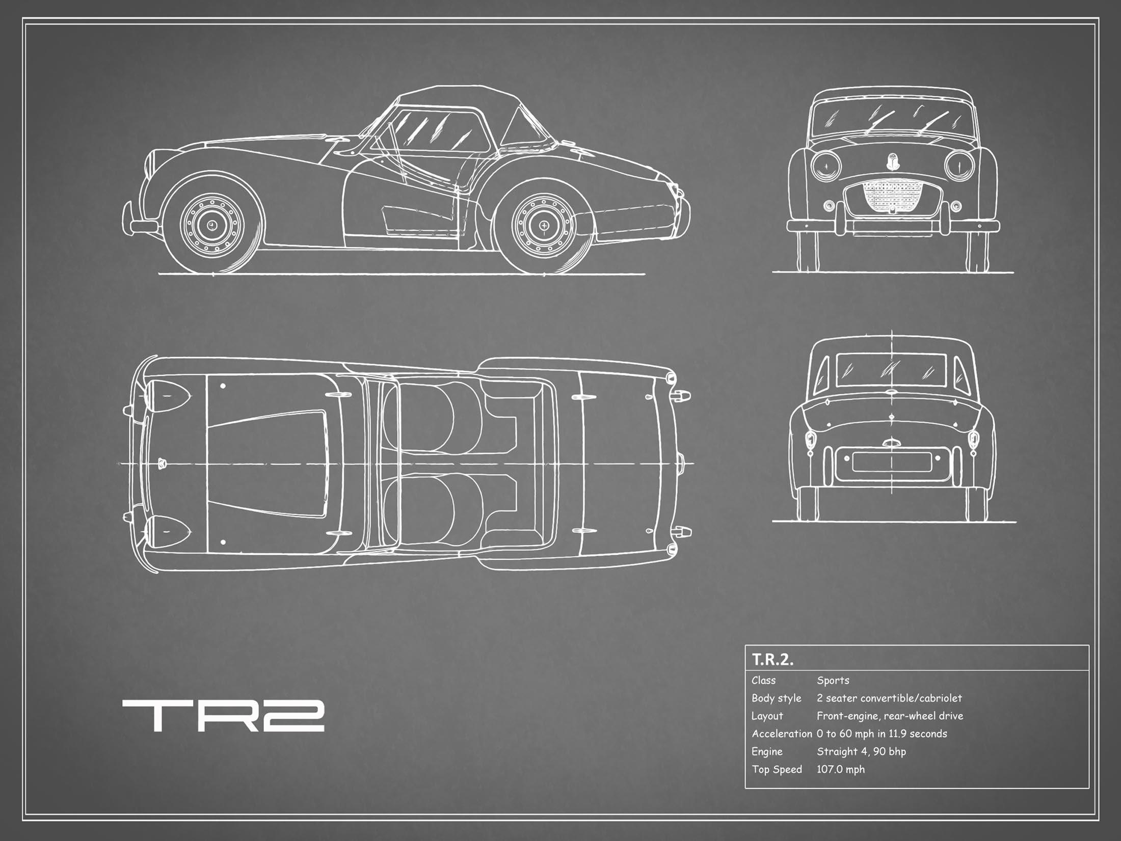 Triumph TR2 - Gray