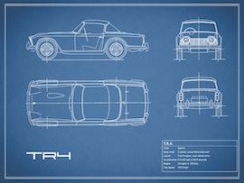 Triumph TR4 - Blue