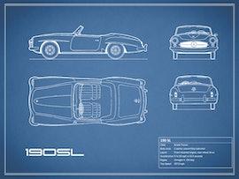 Mercedes-Benz 190 SL - Blue