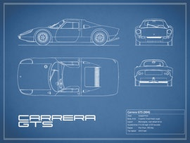 Porsche Carrera GTS - Blue