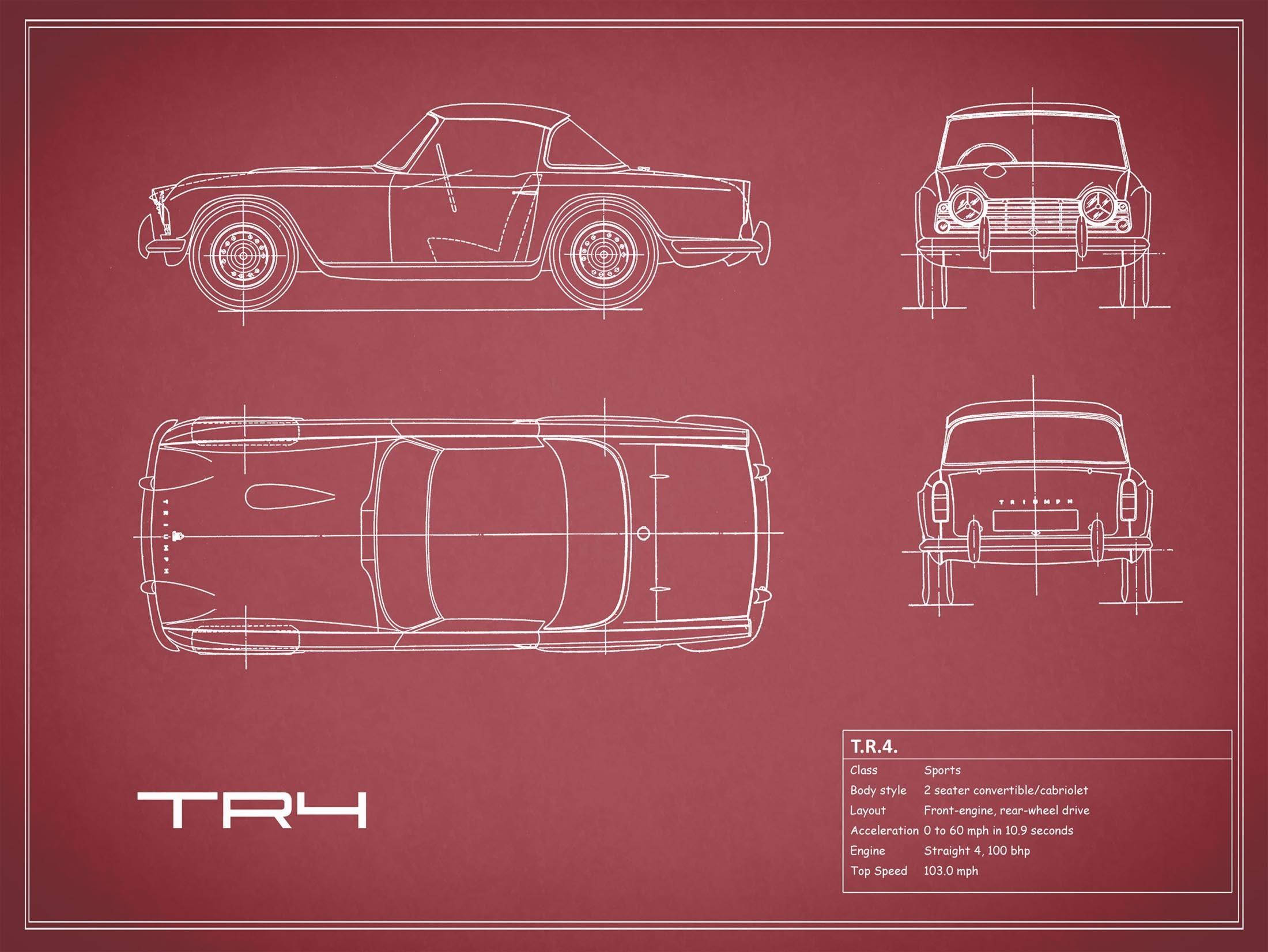 Triumph TR4 - Red
