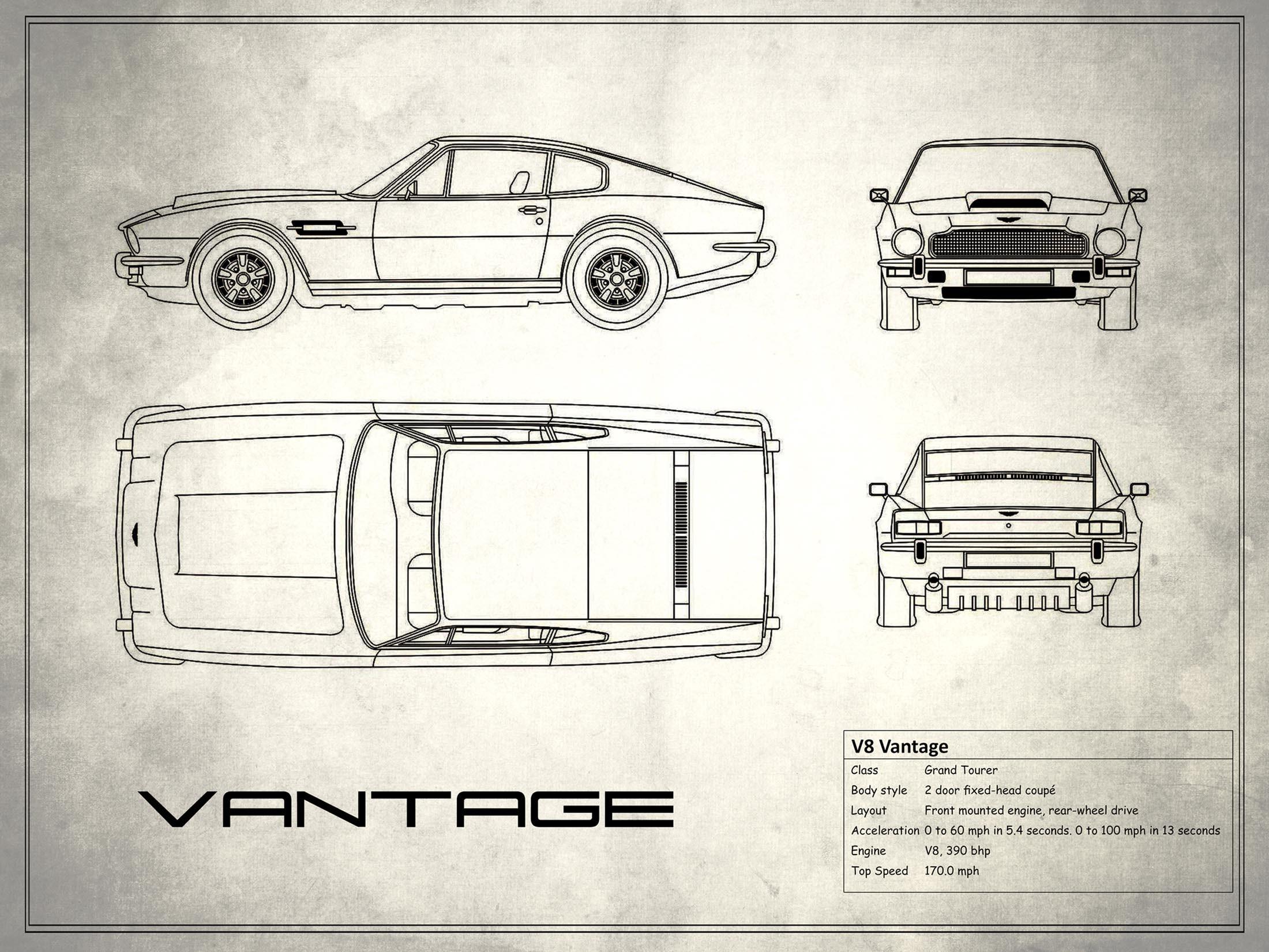 Aston Martin V8 Vantage - White