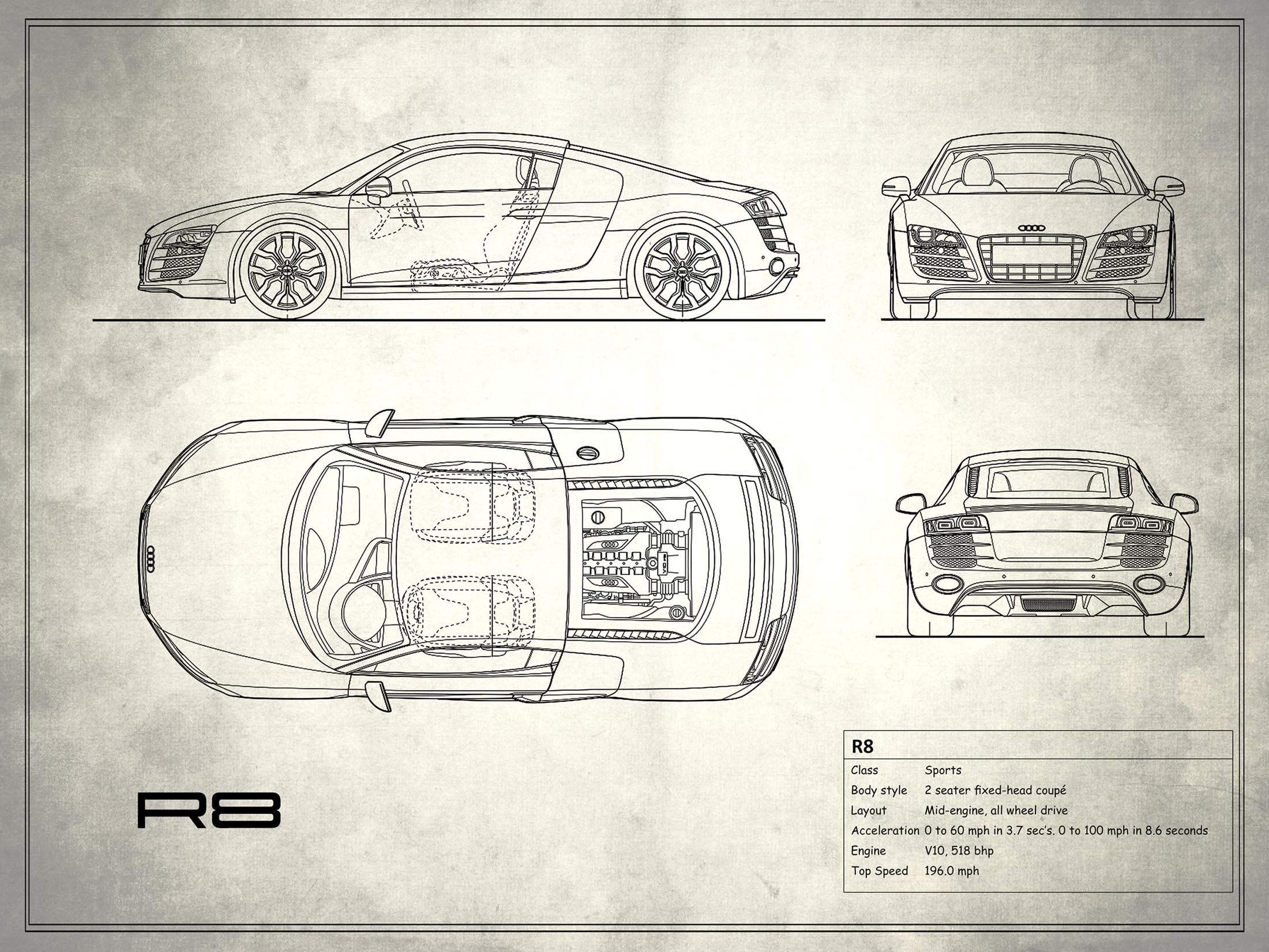 Audi R8 - White