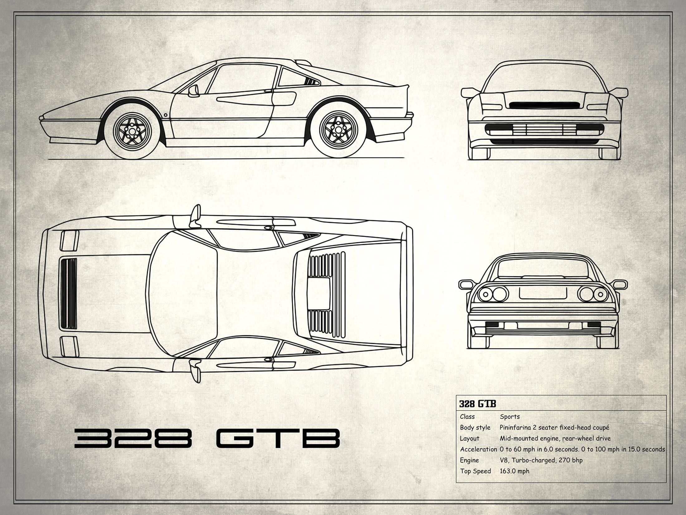 Ferrari 328 GTB - White