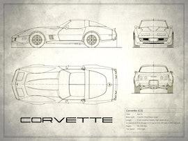 Corvette C3 - White