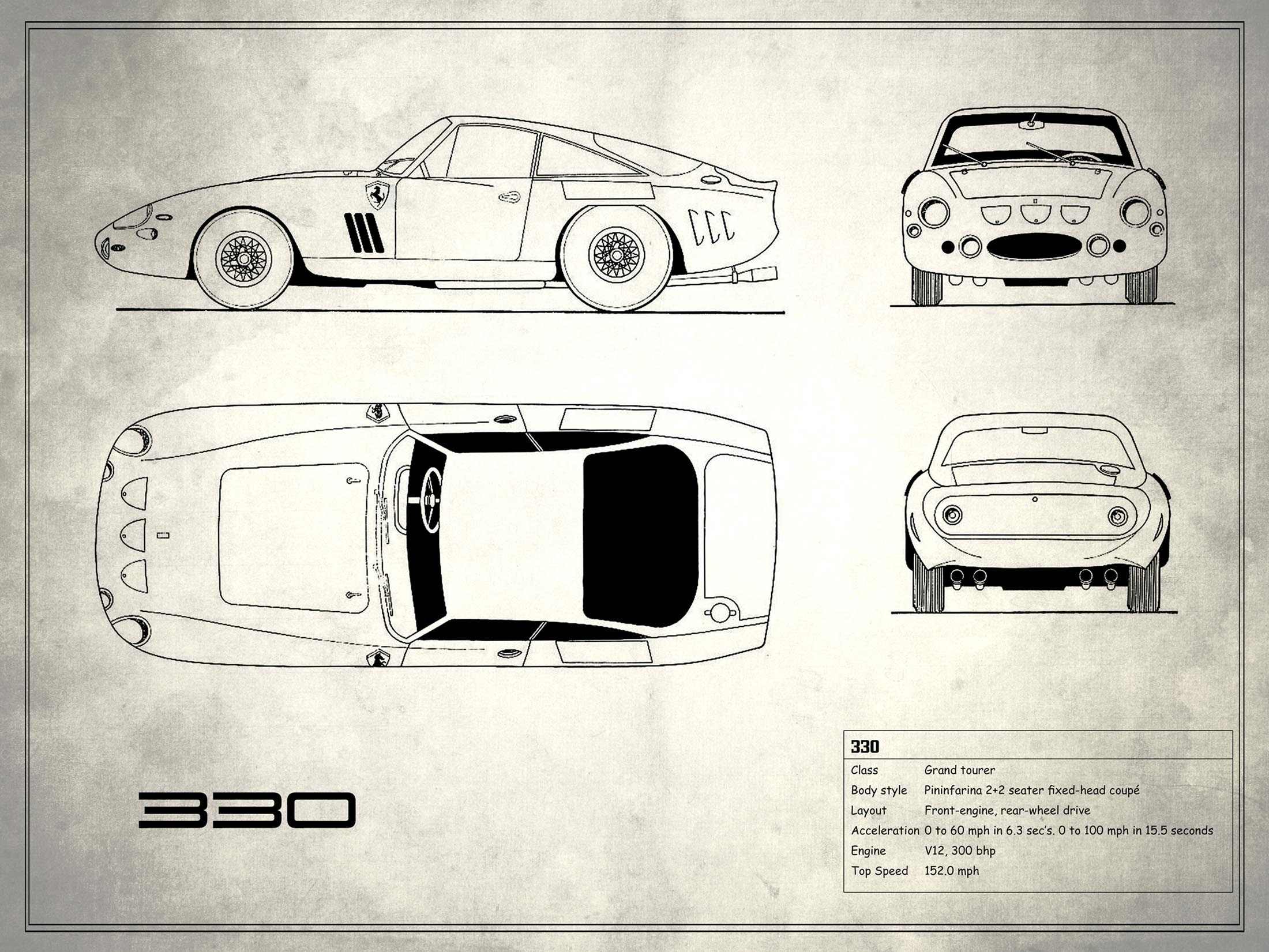 Ferrari 330 - White