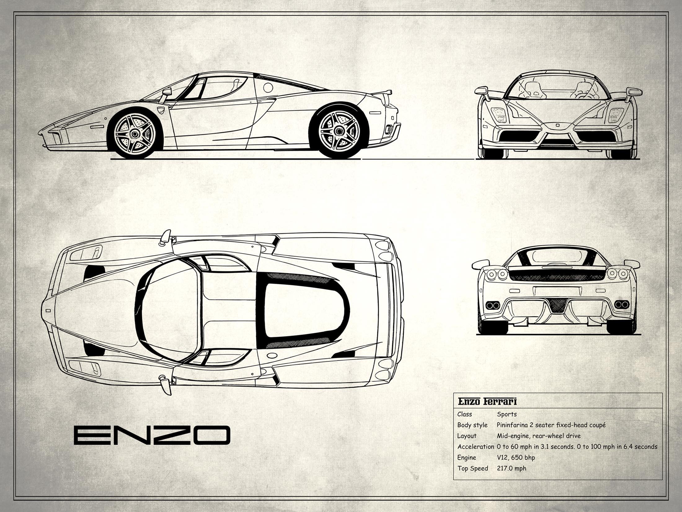 Enzo Ferrari - White