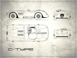 Jaguar C-type - White