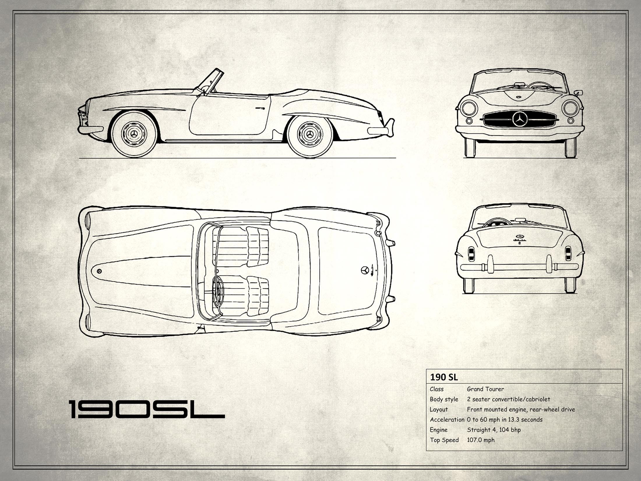 Mercedes-Benz 190 SL - White