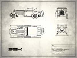 Mercedes-Benz SSK - White