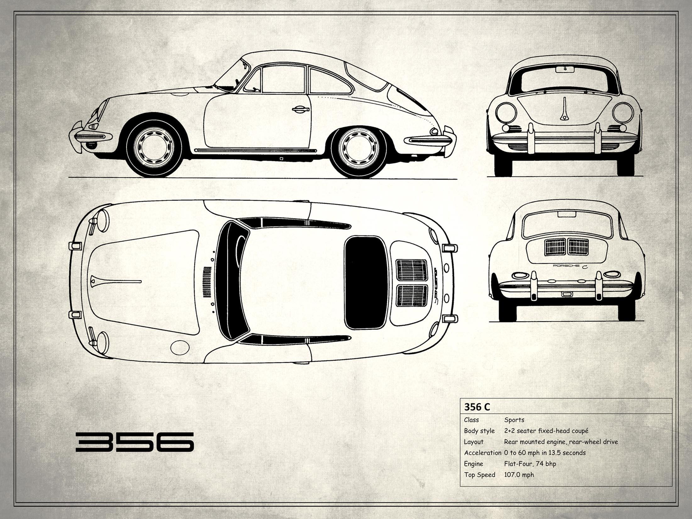 Porsche 356 C - White