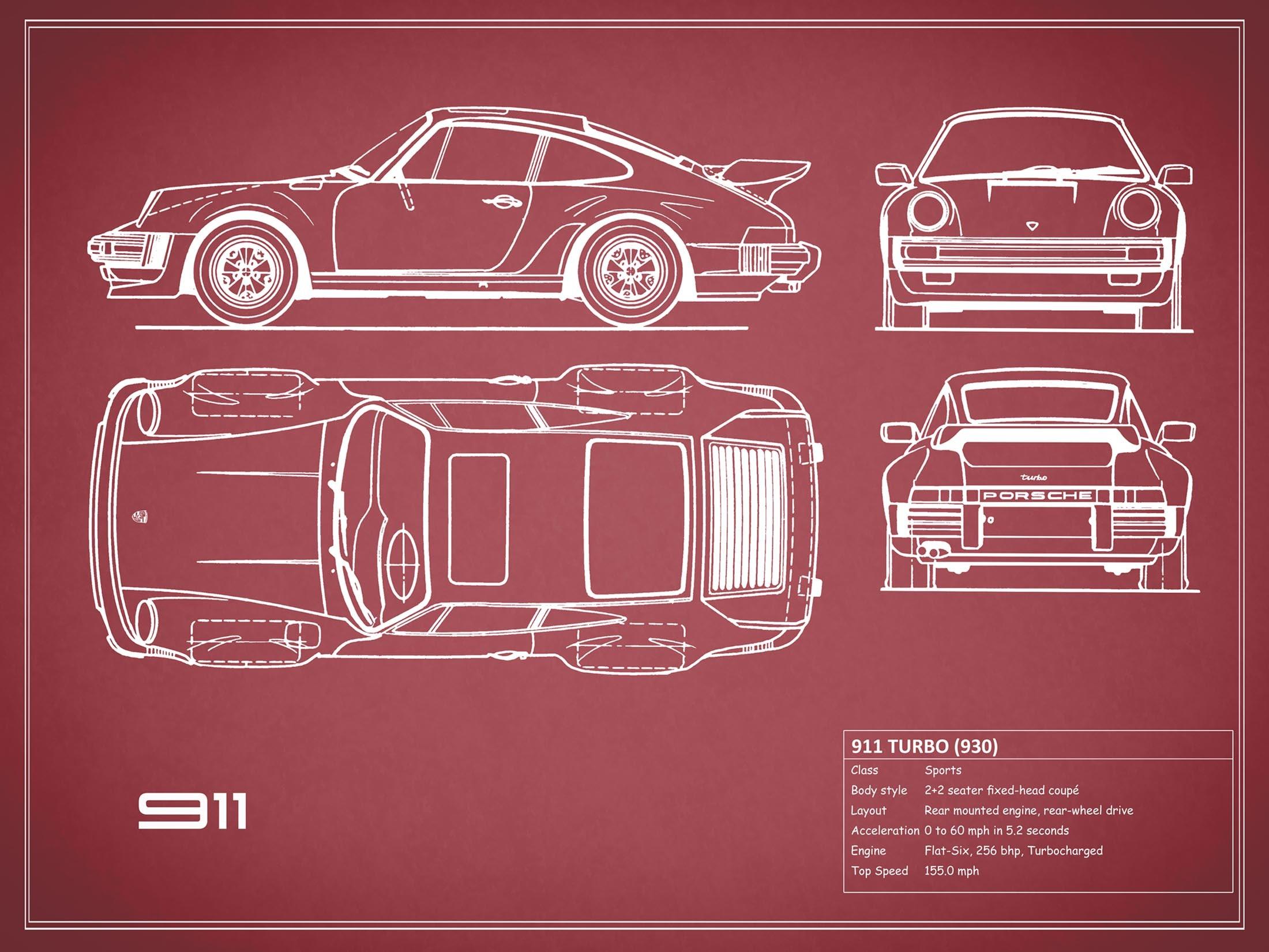 Porsche 911 Turbo - Red