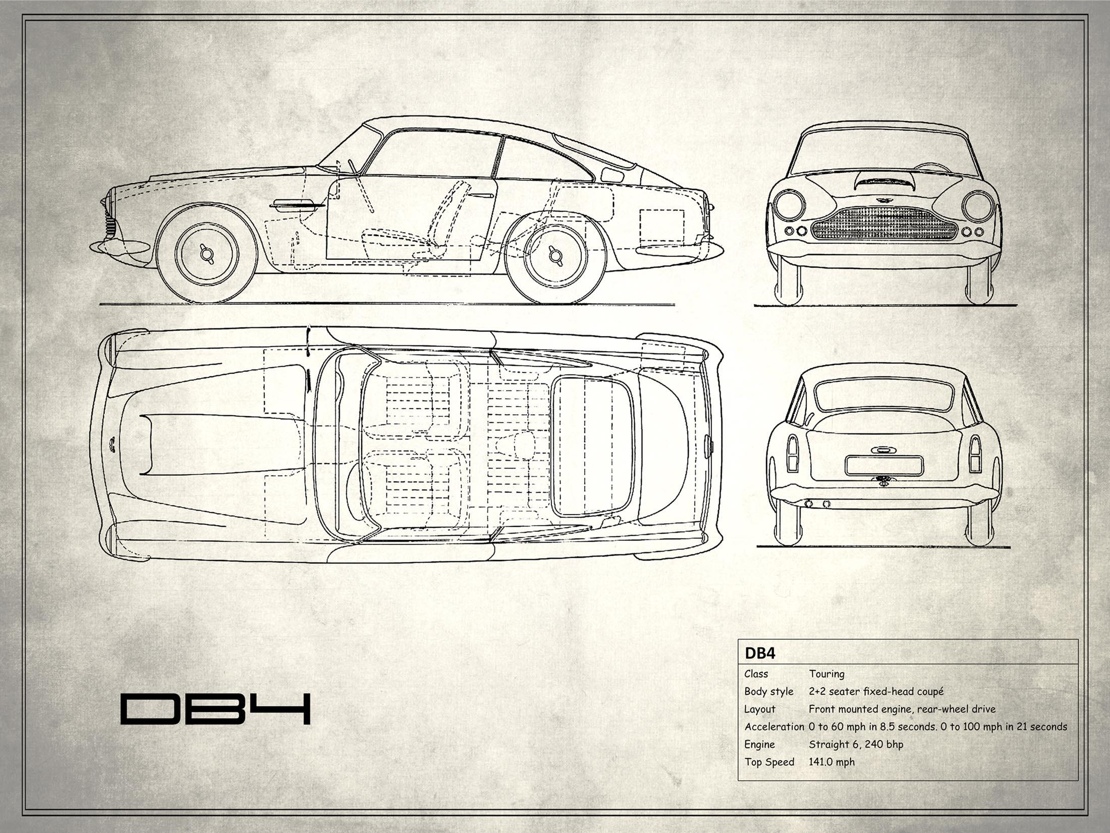 Aston Martin DB4 - White