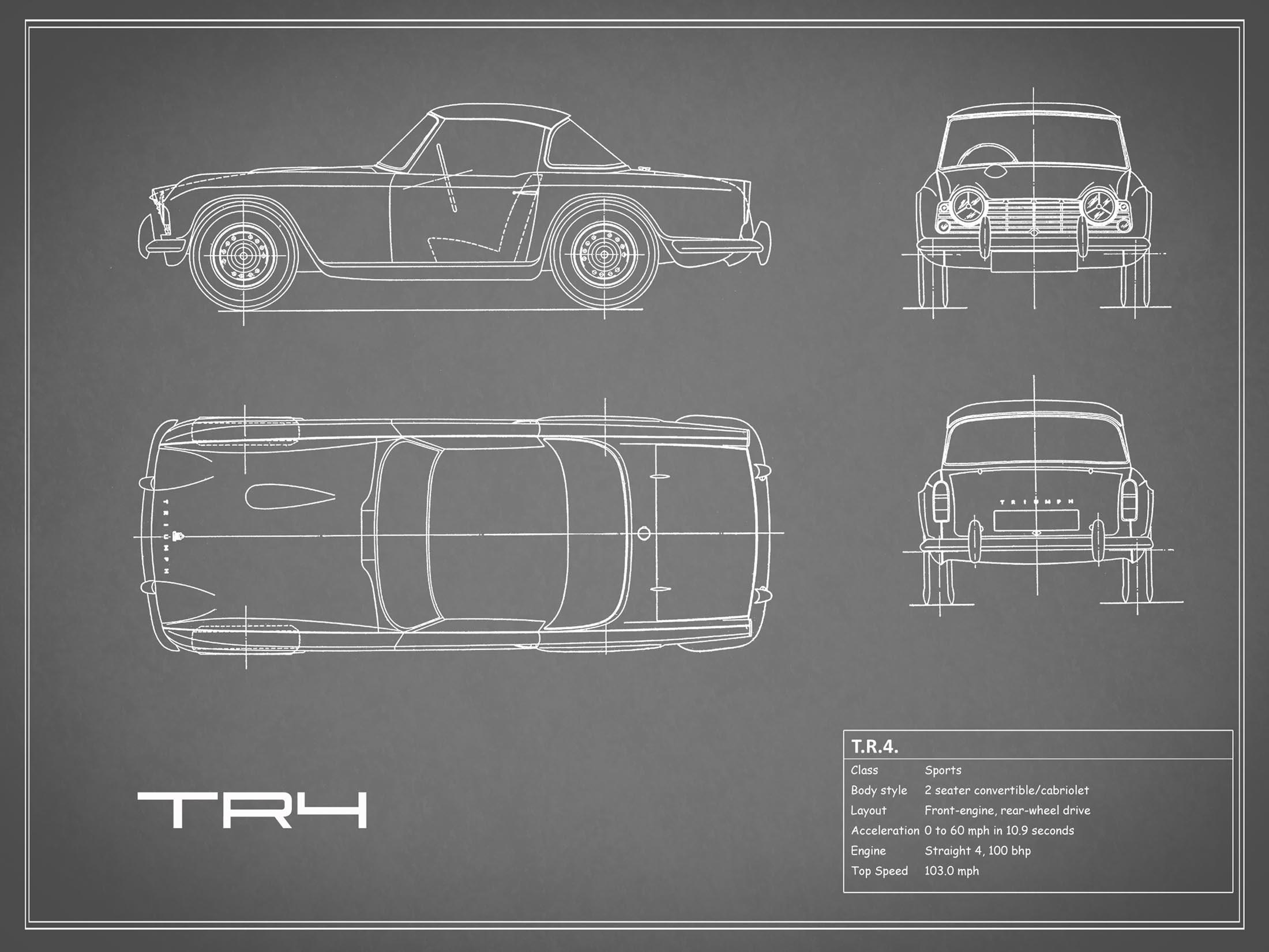 Triumph TR4 - Gray