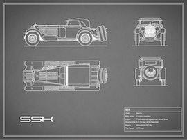 Mercedes-Benz SSK - Gray