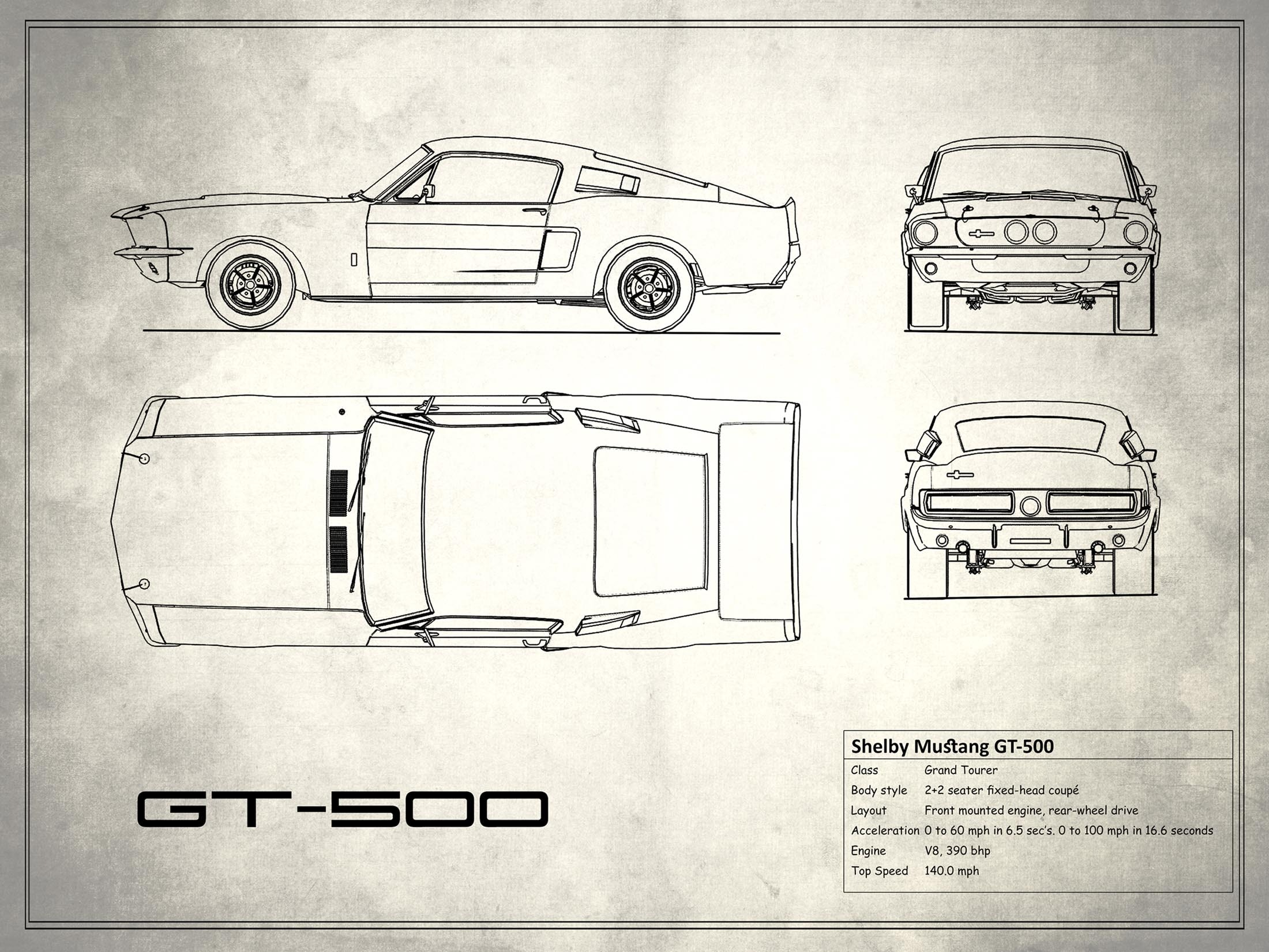 Shelby Mustang GT500 - White