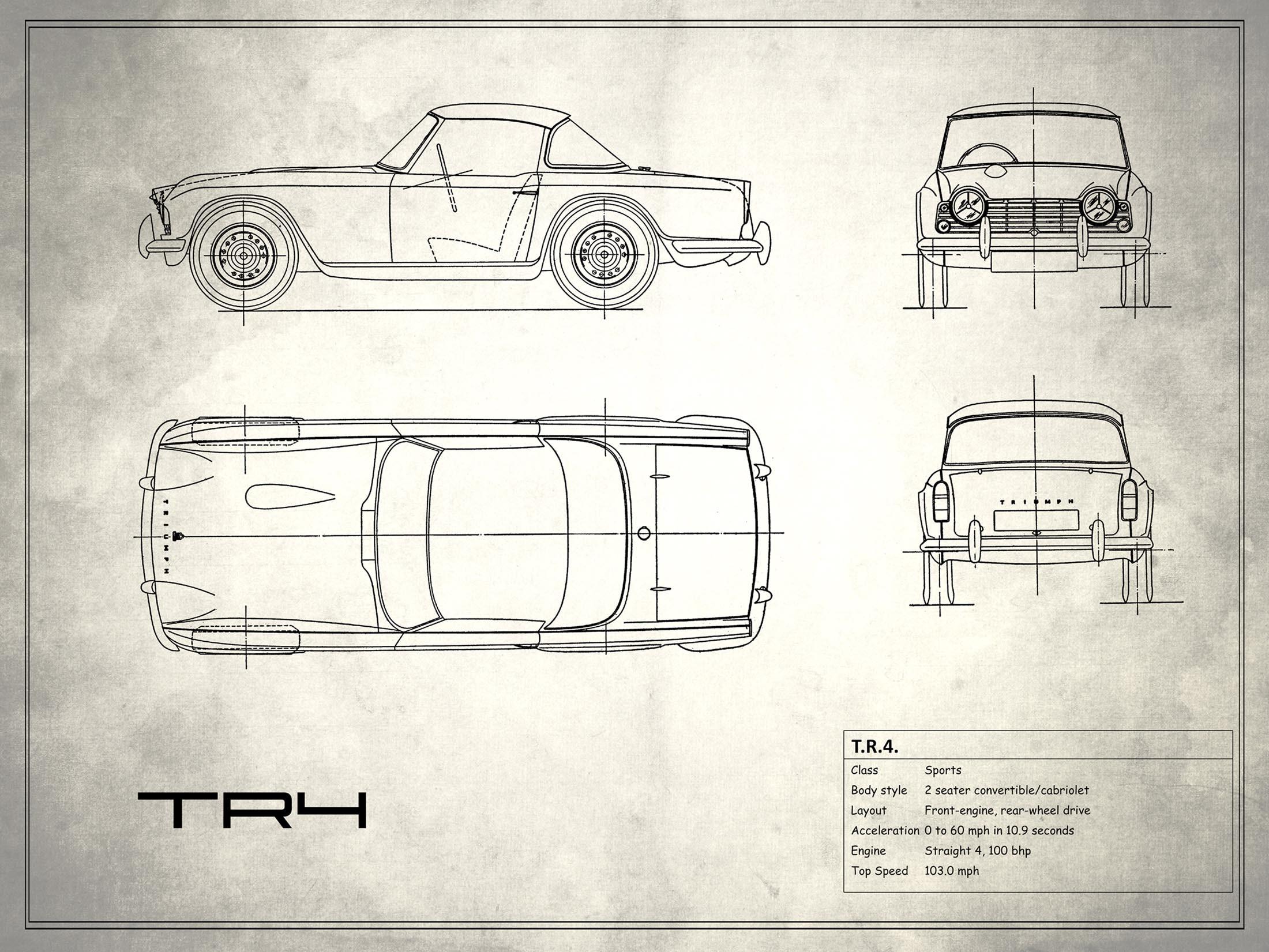 Triumph TR4 - White