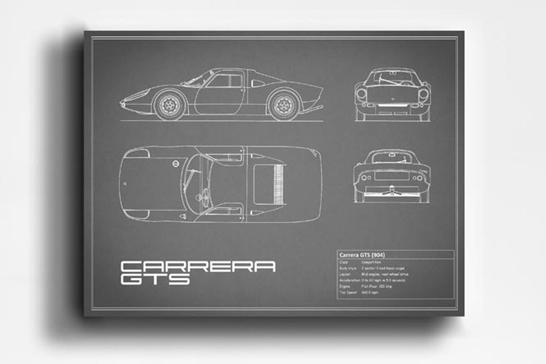 Mark Rogan Automotive Prints - Blueprint Collection