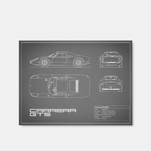 Mark Rogan Automotive Prints Blueprint Collection Price