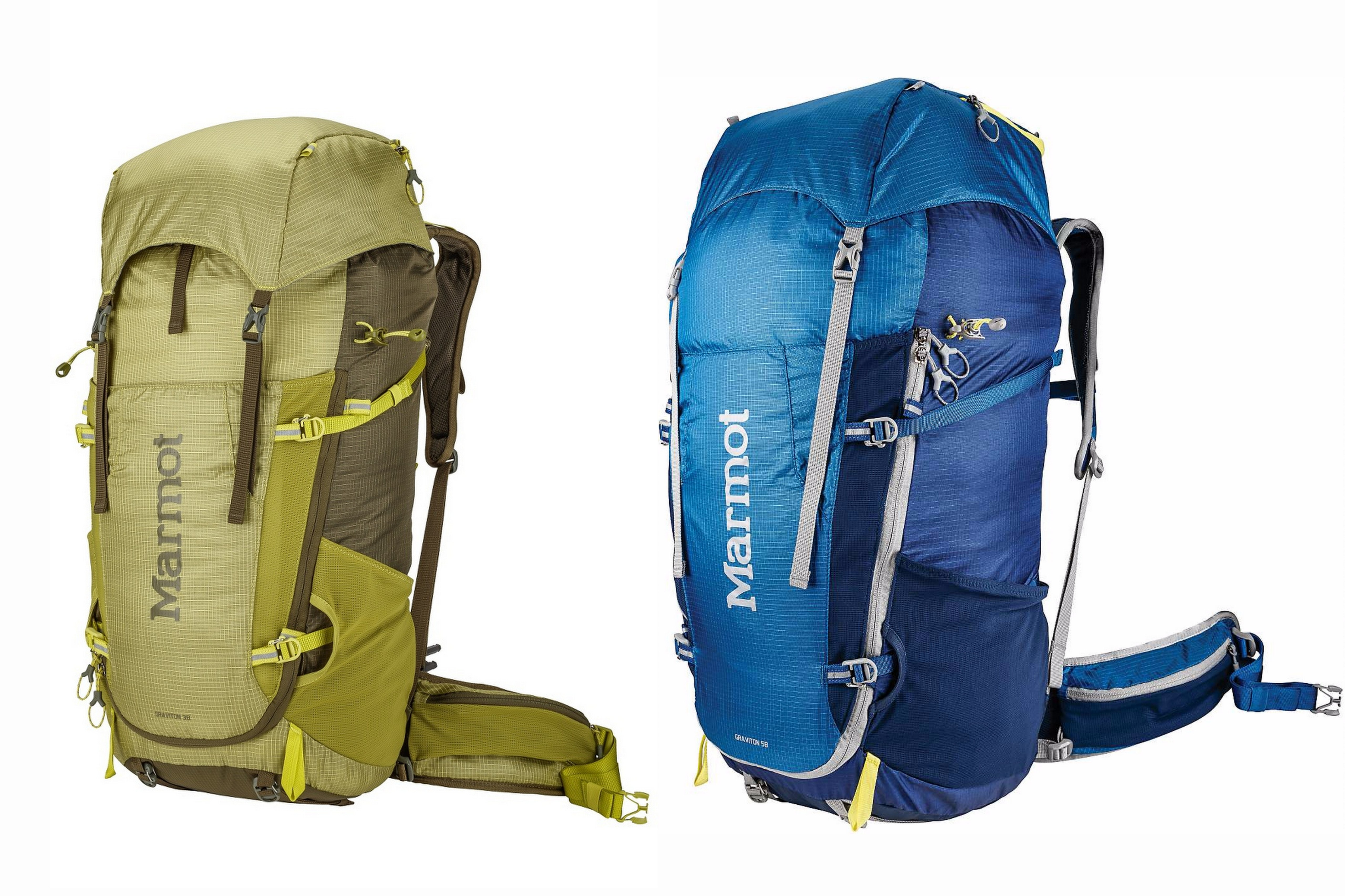 Marmot Graviton 38 and 58L Backpacks