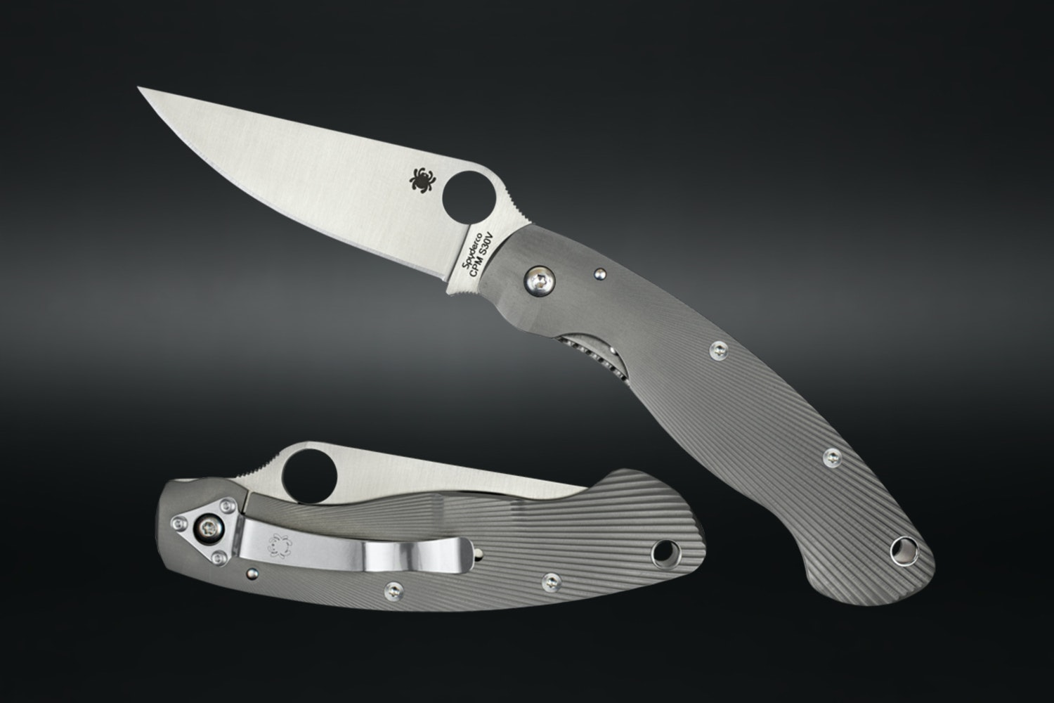 Spyderco Fluted Titanium Military