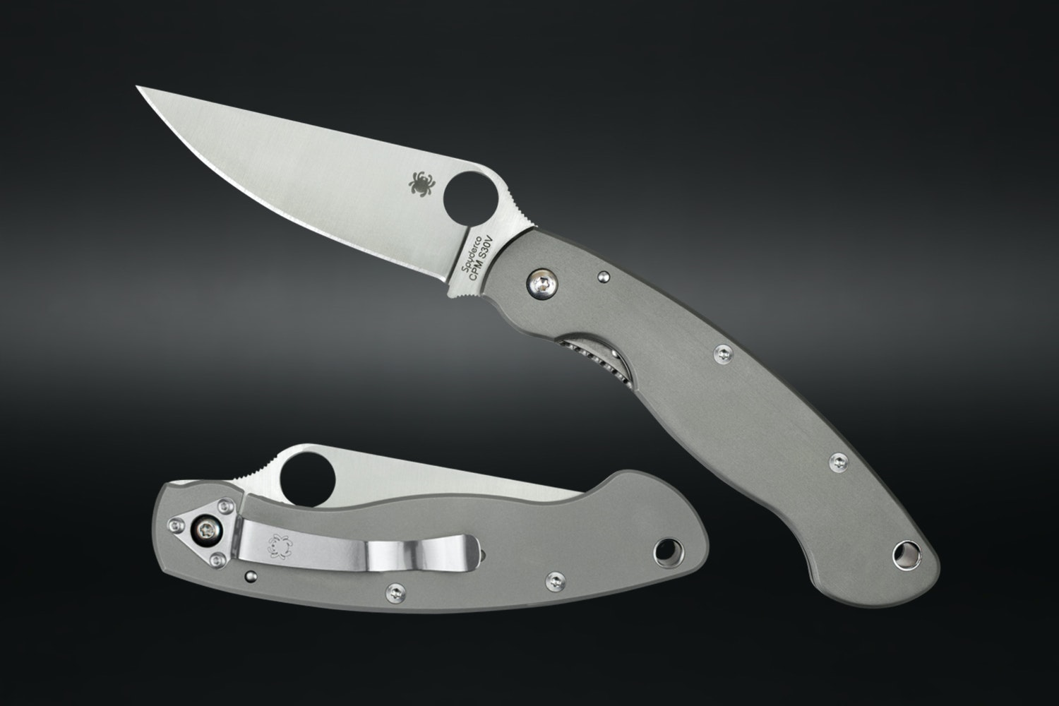 Spyderco Military Titanium Handle