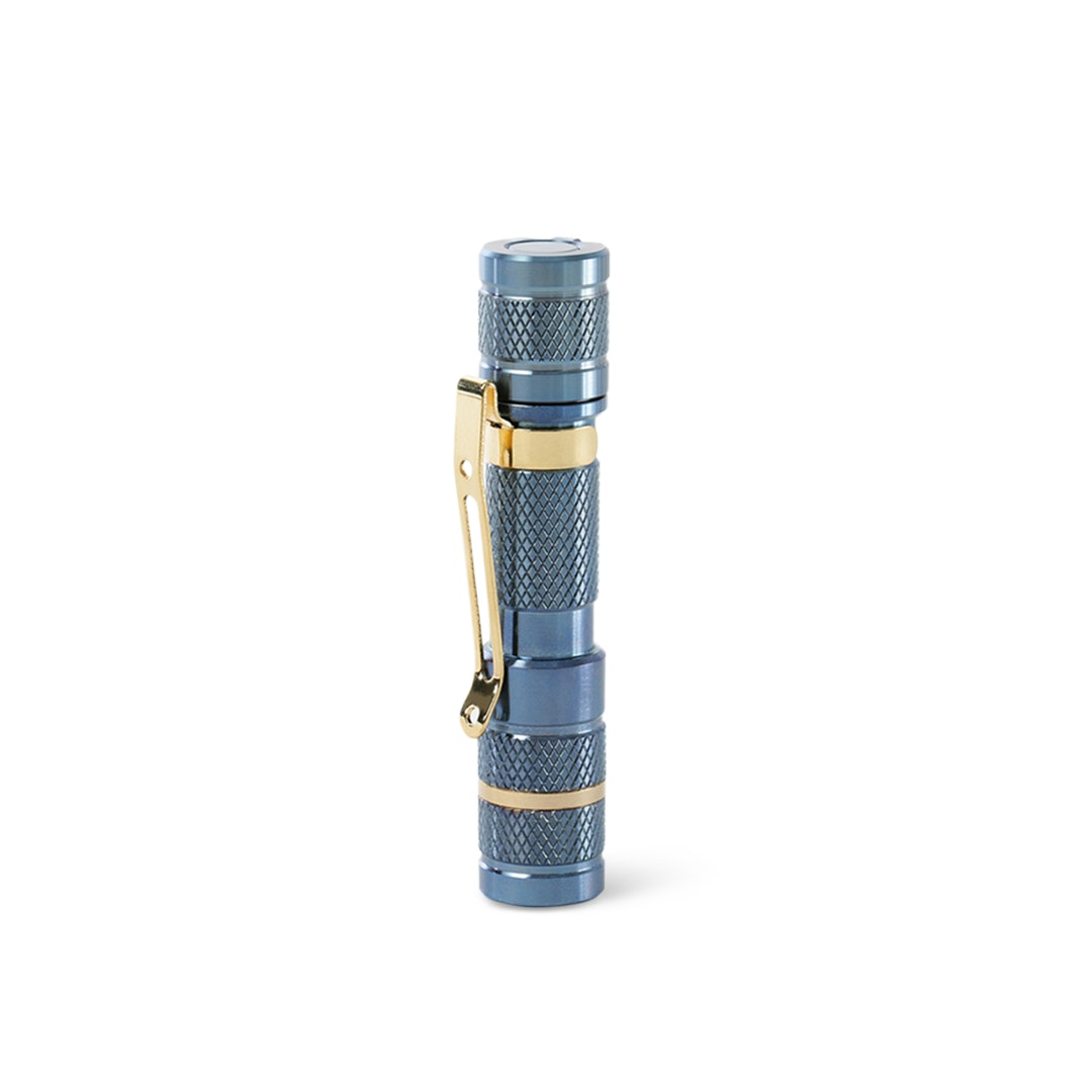 Massdrop Blue Titanium AAA Flashlight